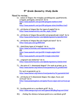 WebQuest Geometry