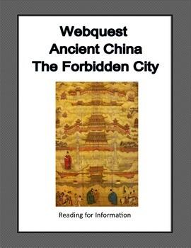 The Forbidden City-Ancient China-Webquest