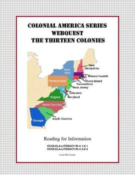The Thirteen Colonies -   WebQuest