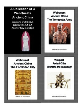 Ancient China -   WebQuests - Bundled for Savings