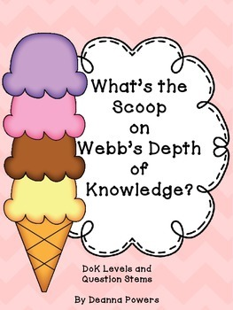 Webb's Depth of Knowledge Question Stems