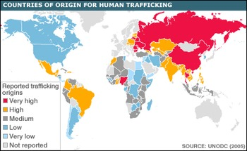 Webquest Human Trafficking Worksheet - Used as intro to So