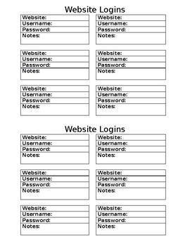 Website Login Document for ISN Notebook