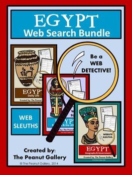 Website Sleuths- Ancient Egypt Web Search Bundle