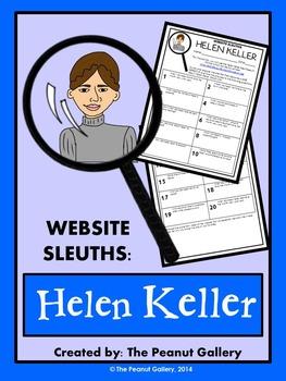 Website Sleuths- Helen Keller