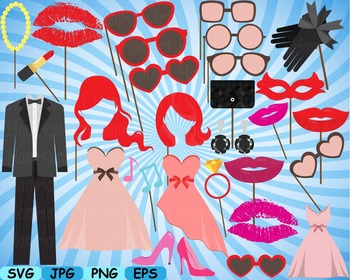 Wedding Beauty Make Up Props Party Photo Booth Birthday Cl