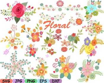 Wedding Flowers Invitation clip art floral roses Banners l