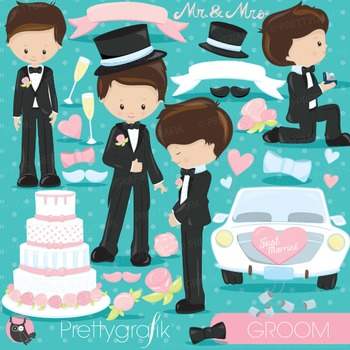 Wedding groom clipart commercial use, vector graphics, dig