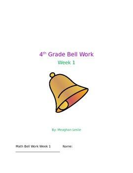 Week 1 4th Bell Work- Math