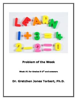 Week #1 POTW= Problem of the Week!