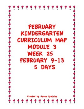 Week 25 Kindergarten Curriculum Aligned to Common Core Standards