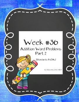 Addition Word Problems Part 2