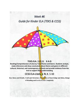 Kinder:  Week#6 ELA K Lesson Plans