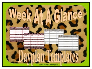 Week At A Glance Dayplan Template