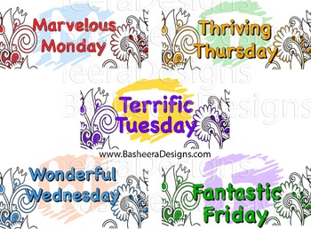 Week Days Magnets Stickers Poster Phonics Blending Fantast