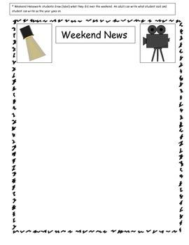 Weekend News Homework
