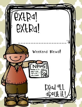 Weekend News! - Narrative Writing...No Prep! You're Set fo