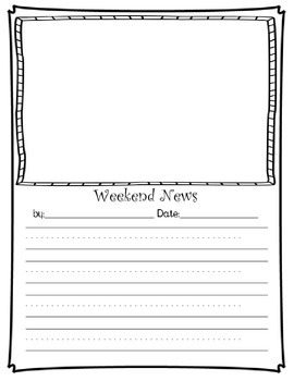 Weekend News Writing Pack