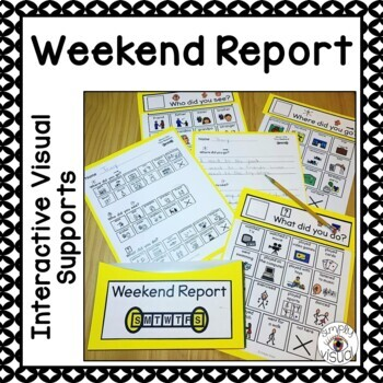 Weekend Report Interactive Visual Supports