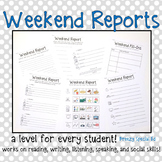 Weekend Reports for Special Education Students - Differentiated