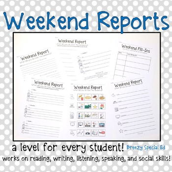 Weekend Reports for Special Education Students - Differentiate