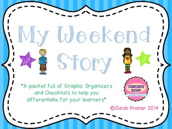 Weekend Story Graphic Organizers and Checklists