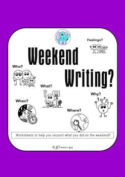 Weekend Writing worksheet