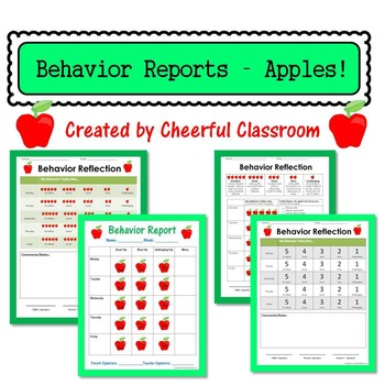 Weekly Behavior Reflection Report / Parent Communication (
