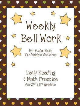 Weekly Bell Work Bundle #4 - Daily Reading & Math Practice