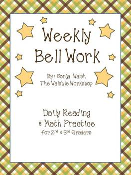 Weekly Bell Work Bundle #1 - Daily Reading & Math Practice