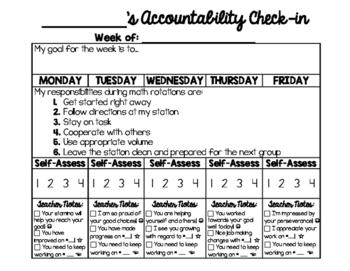 Weekly Center Accountability Tracker