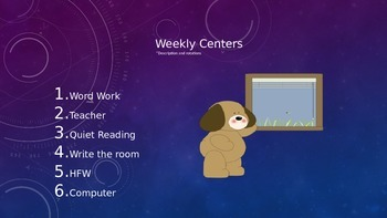Weekly Centers Power Point