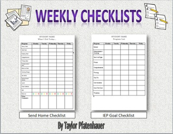 Weekly Checklists