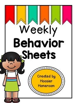 Weekly & Daily Behavior Chart