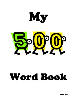 Weekly First Grade Sight Word Book 5