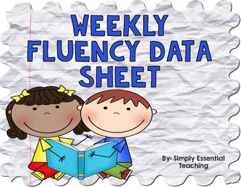 Weekly Fluency Data Sheets