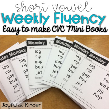 Weekly Fluency - Short Vowel {Mini Books}