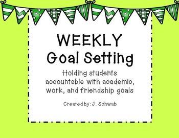 Weekly Goal Setting Template