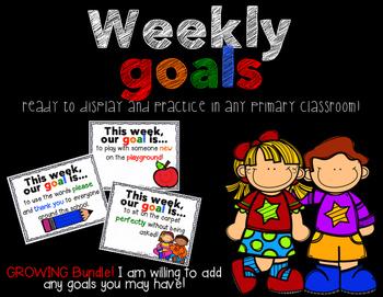 Weekly Goals - Growing Bundle!