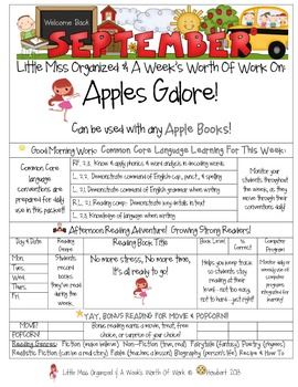 Weekly Grammar & Language:  Apples Galore!