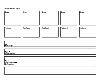 Weekly Guided Reading Template
