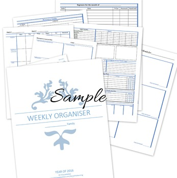 Weekly Homeschooling Planner (1 child) - blue