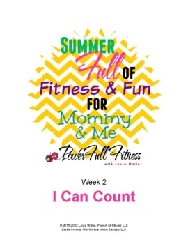 Weekly I CAN COUNT Lesson PLan for Preschool, Pre-K, Kindergarten