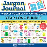 Vocabulary Curriculum Bundle