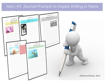Creative Journal Prompts for Teens (Weekly Packet)