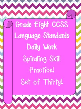 Language Standards- A Week at a Time