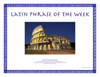 Weekly Latin Phrases Language Arts Word Study Etymology CCSS ELA