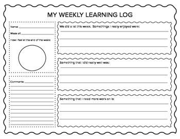 Weekly Learning Log