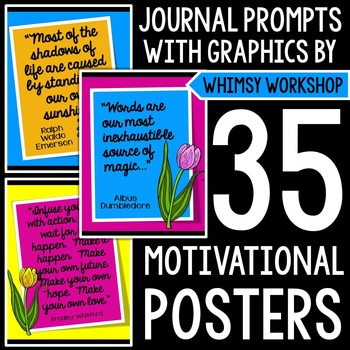 Weekly Motivational Posters with Whimsy Workshop Graphics!