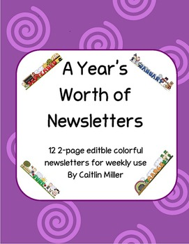 Weekly Newsletters for All Year
